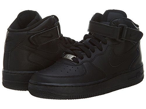 Nike Boy's Air Force 1 Mid Basketball Shoe Black/Black Size 6.5Y (Shoes Basketball One)