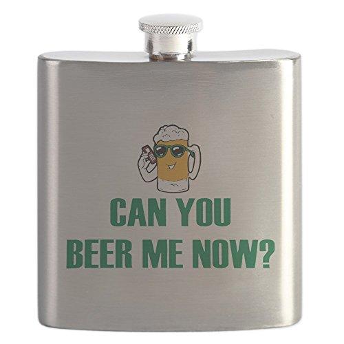 Hip Flask Can You Beer Me Now Beer Mug