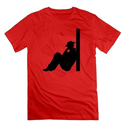 T-shirt In Cotone Biologico Uomo Cboysilhouette001 Su Misura Personalizzata T-shirt Nera / Nera