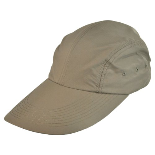 Long Bill Hat - Torrey Hats UPF 50+ Long Bill Adjustable Baseball Cap (Khaki)