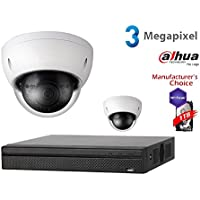 Dahua 3MP NVR Security Package: 4CH NVR2104HS-P-S2 w/1TB Security Hard Drive+ (2) 3MP Outdoor IR HDBW1320 2.8MM Dome (NO LOGO Original Housing Local Support)
