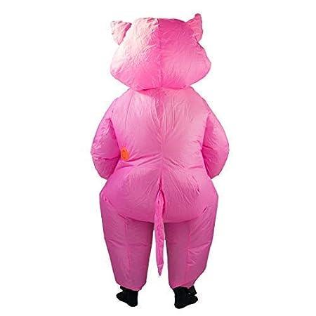 Bodysocks® Disfraz Hinchable de Cerdito Adulto