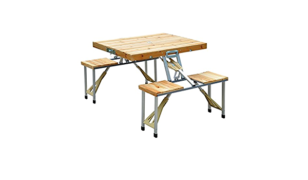 Folding Dining Table # Picnic Table Ultralight Portable Table For Indoor Or Outdoor Hiking Trip Picnic Square Or Round 24 * 24 * 21in ,Black-Square