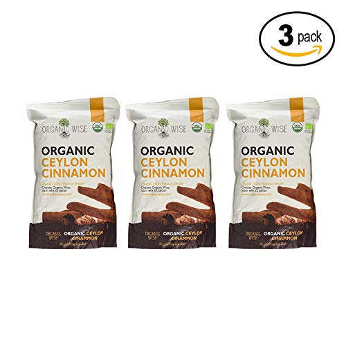 Organic Wise Ceylon Cinnamon Ground Powder, 1 lb-From a USDA Certified Organic Farm and Packed In The USA- 3 Pack Bundle by Organic Wise (Image #1)
