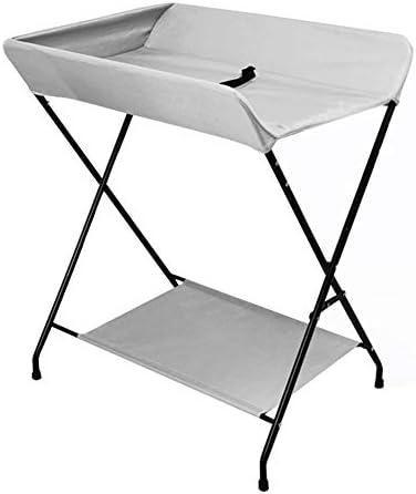 LXF グレー新生児更衣台収納ユニット折りたたみ式、ベビードレッシングテーブルドレッシングマッサージケアステーション用屋内バスルームリビングルーム