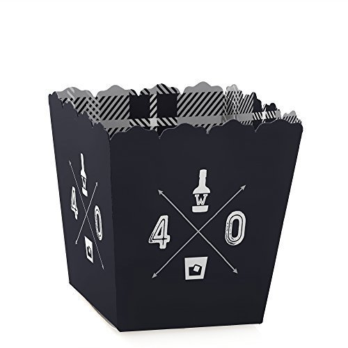 (40th Milestone Birthday - Dashingly Aged to Perfection - Party Mini Favor Boxes - Birthday Party Treat Candy Boxes - Set of)