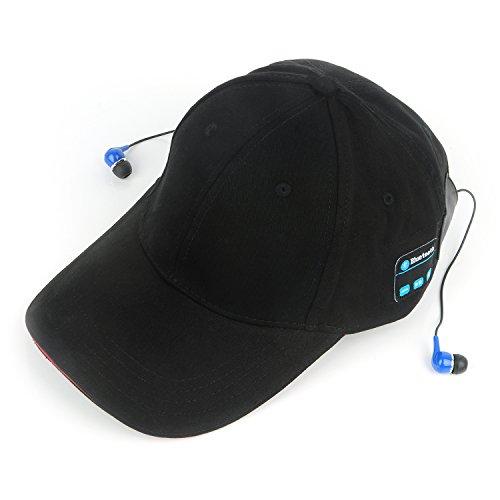 ZUEN Headphones, Smart Wear Music Headphones Outdoor Sports Baseball Cap,Black ()