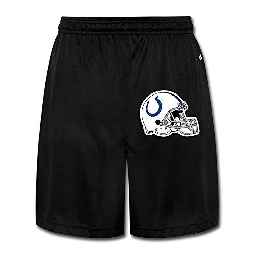 AmFUN Men's Colts Helment Football Logo Shorts Sweatpants