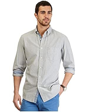 Men's Oxford Classic Fit Button-down Casual Shirt, True Quarry, Small