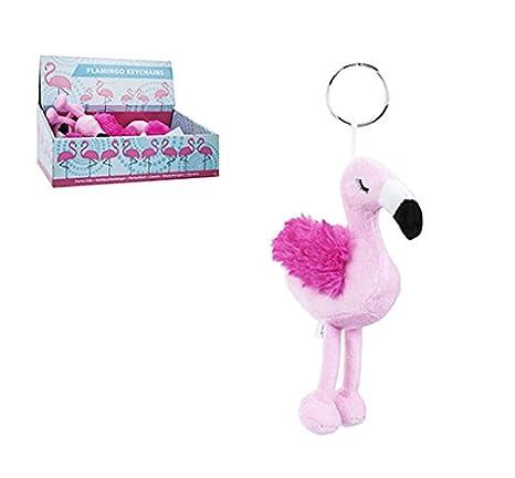 Toyland® Adorable llavero flamenco rosa de 15 cm con alas ...