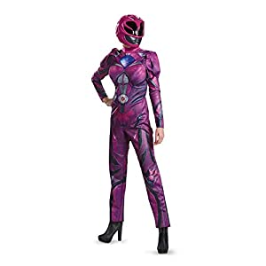 Disguise Womens Pink Ranger Movie Deluxe Adult Costume
