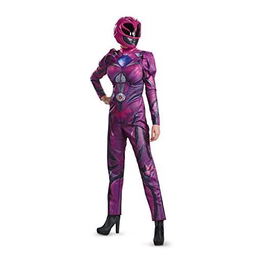 Disguise Women's Pink Ranger Movie Deluxe Adult Costume