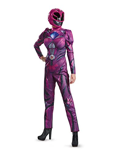 Disguise Women's Pink Ranger Movie Deluxe Adult Costume, -