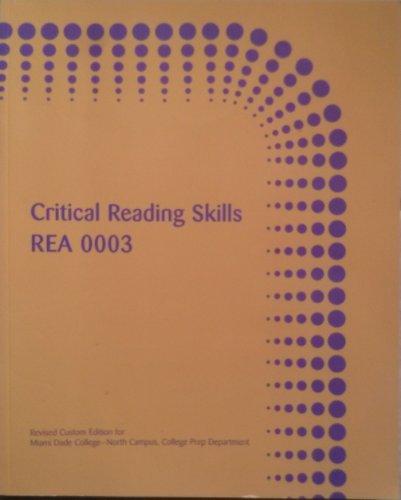 Critical Reading Skills REA 0003