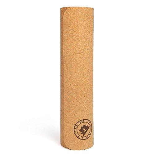 Corkyogis Premium 5mm Tapis de yoga en liège de luxe avec 5mm d'épaisseur antidérapant 180,3x 68,6cm pour pilates, salle de sport et d'exercice