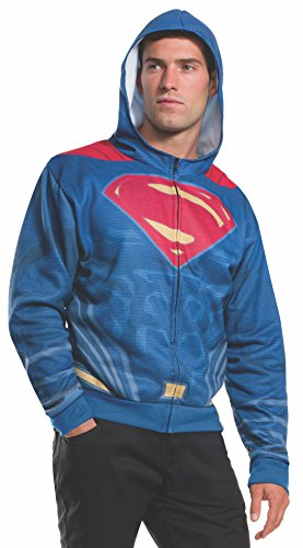 Rubies Costume Men's Batman v Superman: Dawn of Justice Superman Costume Hoodie, Multi, One Size ()