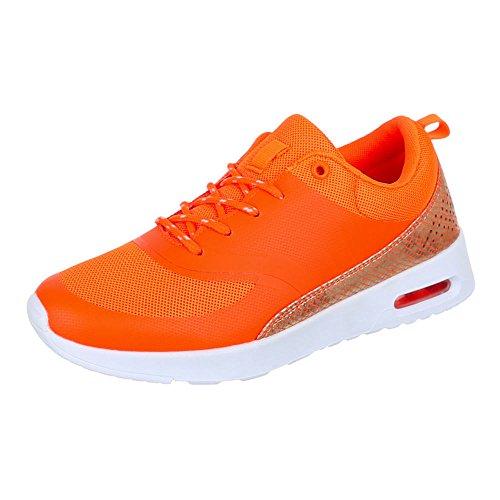 38 Sneaker Donna Size Arancione design Ital xzqwga