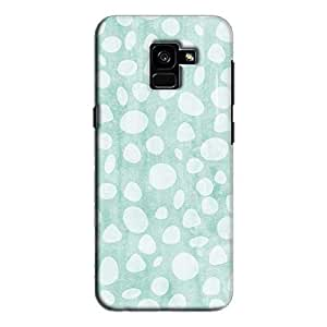 Cover It Up - Pebble Print Blue Galaxy A8 Plus Hard Case