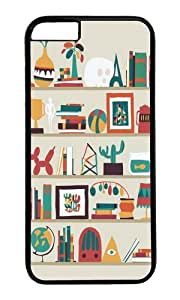 Apple Iphone 6 Case,WENJORS Adorable The shelf Hard Case Protective Shell Cell Phone Cover For Apple Iphone 6 (4.7 Inch) - PC Black