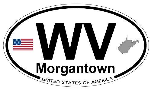 Morgantown, West Virginia Oval Sticker