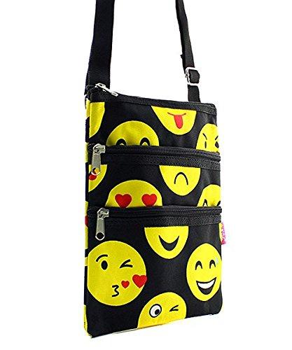 Emoji Messenger Bag Smiley Face Cross Body Shoulder Handbag by Handbag Inc (Image #1)
