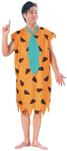 Costums Halloween Adults For (Rubie's Co The Flintstones Fred Flintstone Costume, Orange,)