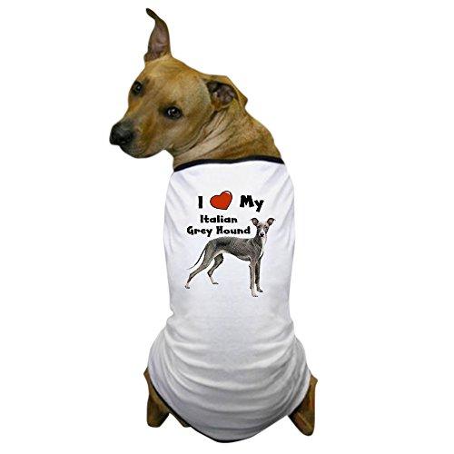 CafePress - I Love My Italian Greyhound Dog T-Shirt - Dog T-Shirt, Pet Clothing, Funny Dog Costume