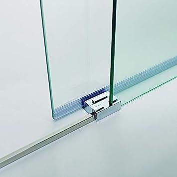 Mampara de Ducha - GME - Basic Frontal - 1 Hoja Fija + 1 Hoja Corredera - Medida - 155-160 cm: Amazon.es: Bricolaje y herramientas