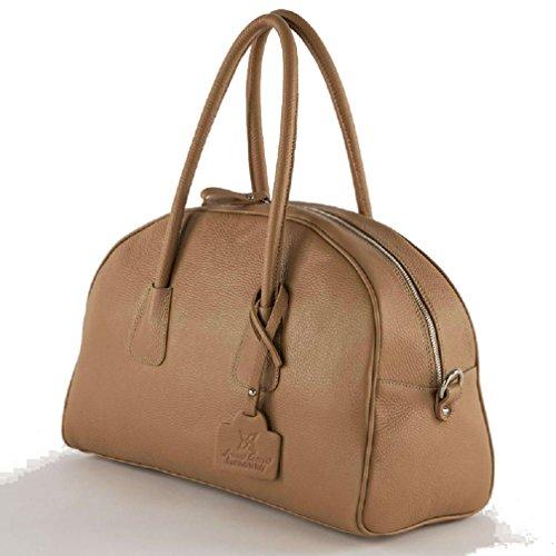 Sac à main, Lolachameau,cuir véritable,Fabriqué en Italie, Dimensions en cm: 42 L x 28 H x 15 p