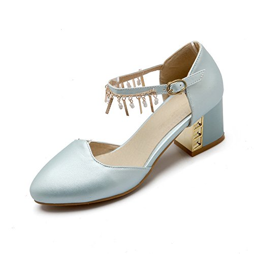 Solid AdeeSu Womens Urethane Blue Toe Round Loafers SDC03722 Grommets Flap Shoes X1wSwfpq