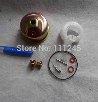 /& Float Chamber Gasket Plugs Carburetor Repair Kit with Clips Valve Needles