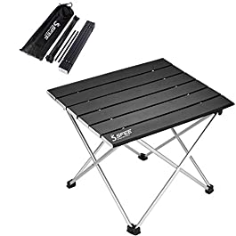 Sfee Folding Camping Table – Portable Ultralight Aluminum Camp Table Lightweight Compact Roll Up Picnic Table for Picnic…