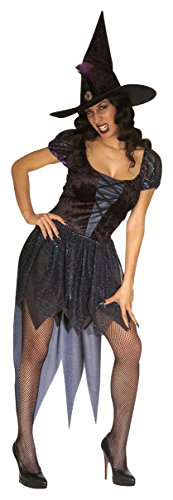 Ladies Wicked Witch Costume Large Uk 14-16 For Halloween Fancy Dress -