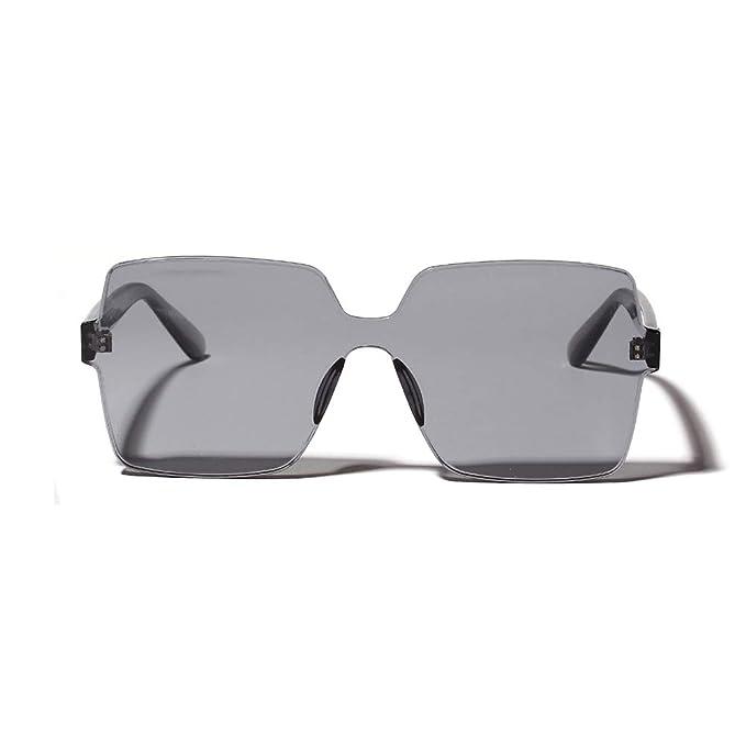 Amazon.com: URYY Gafas de sol sin borde transparente de una ...