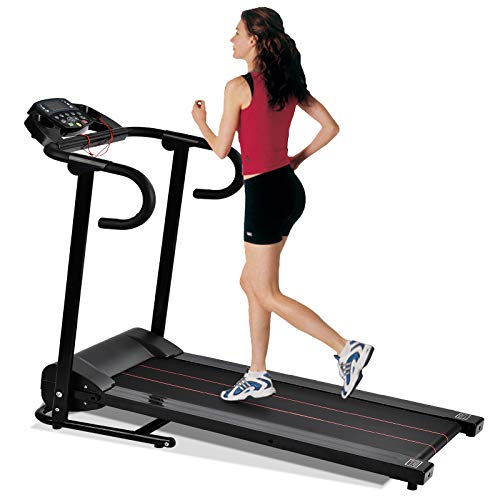 Murtisol 1100W Folding Treadmill Electric Walking Running Exercise Fitness Machine with LCD Display Easy Control Home Gym