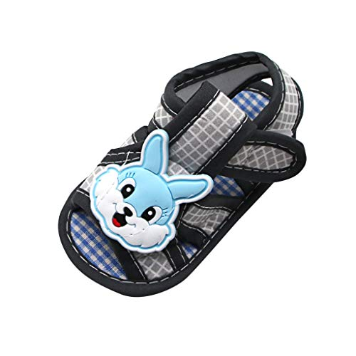 - IEasⓄn_Baby Shoes ,2019 Trendy Rabbit Applique Prewalker Soft Sole Sandals Single Shoes Suit (0-18 M) Grey