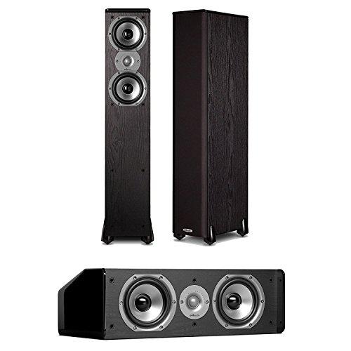 Polk Audio TSi300 FloorStanding Speakers (Pair) Plus A Polk Audio CS10 Center Channel Speaker ()