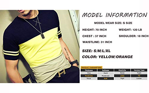 8024c685d7ef LOGEEYAR Mens Summer Fashion Fitted Tee Shirts Cotton Short-Sleeve Contrast  Color Stitching T-