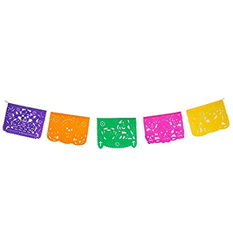 FANMEX - Fantastik - Papel picado Mexicano 5 Metros Modelo día de Muertos (Papel): Amazon.es: Hogar