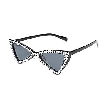 96af5c16983 Burenqi  Triángulo de Diamante de Cristal de Lujo de la Marca Gafas de Sol  Mujer