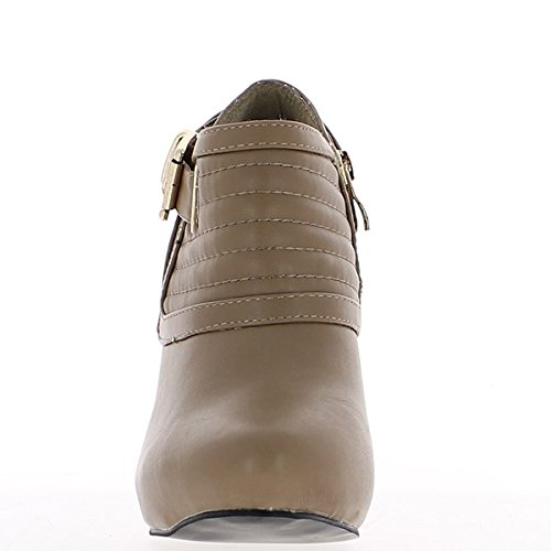 Tobillo botas mujer moles estilo tacón de 11cm de richelieu