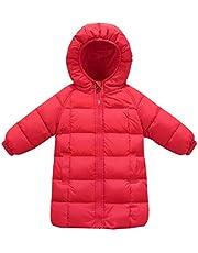 FEOYA Girls Hooded Down Jacket Lightweight Winter Outerwear Slim Puffer Coat