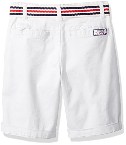 U.S. Polo Assn. Boys' Big Short, Large Roll up Cuff White, 10 by U.S. Polo Assn. (Image #2)