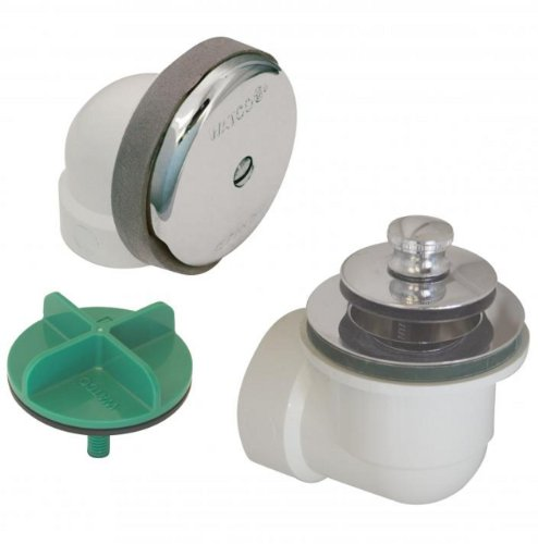 Watco Manufacturing 901-LT-PVC-CP 1.5-Inch Schedule 40 PVC Piping Innovator Lift and Turn Bath Waste Half Kit, Chrome - Chrome Waste Kit