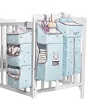 SUNVENO Multi-Functional Nursery Crib Hanging Nappy Change Organizer Waterproof Pushchair Baby Stroller Hanging Storage Bag Baby Closet Organizer