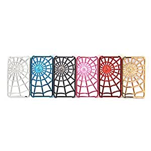 Spider Net PC Case for iPhone 4/4S (Assorted Colors) --- COLOR:Blue