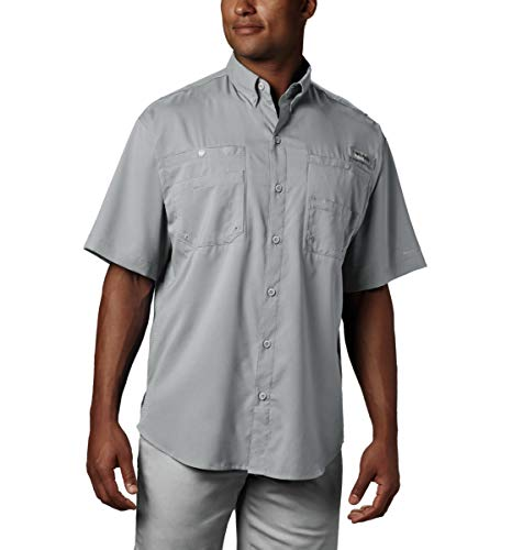 Tamiami Fishing Shirt - Columbia Men's Tamiami II Short Sleeve Fishing Shirt, Cool Grey, Large