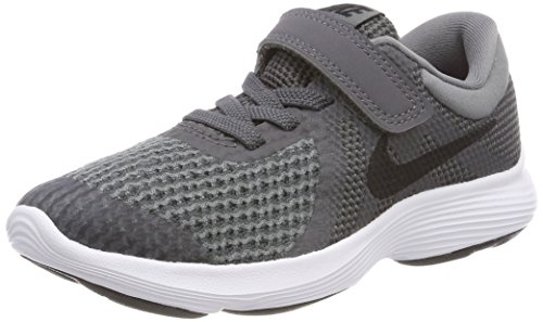Nike Boys' Revolution 4 (PSV) Running Shoe, Dark Black-Cool Grey-White, 1Y Regular US Little Kid (Boys Nike Free Running Shoes)