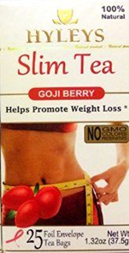 Hyleys Slim Tea Goji Berry 100 Natural 25 Tea Bags Buy Online