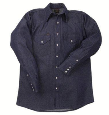(Lapco DS-15 1/2-M Heavy-Duty Welder's Shirts, 100% Cotton, 10 oz, 15 1/2 Medium, Denim)
